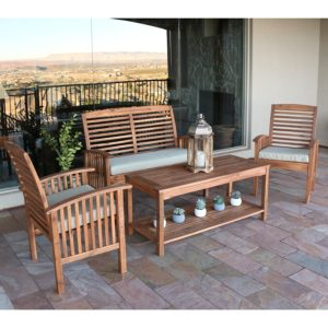 Heavy Acacia Patio Set