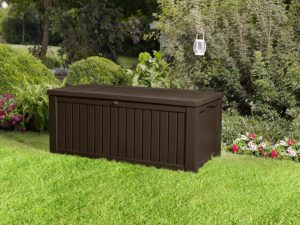 Keter Rockwood 150 Gallon Deck Box Closed