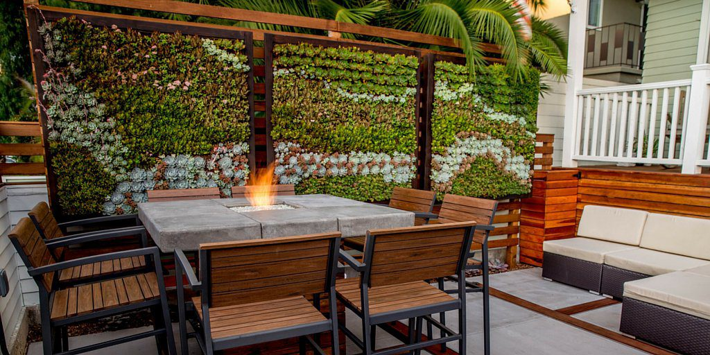Living Wall By the Fire Table Source: HouseTrends