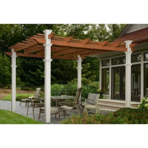 New England Arbors Eden Pergola 12 x 12 ft. Dual Colored Pergola