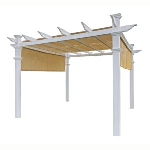 New England Arbors Malibu Pergola. The Best Vinyl Pergola Kits Available.
