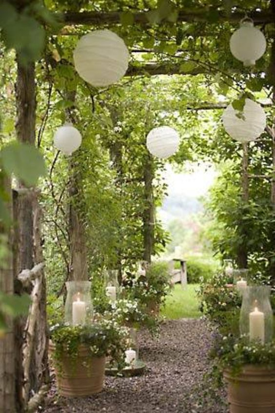 Paper Lanterns and Vines. Source: HiMissPuff