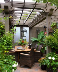 Pergola with Chandelier Source: DecorPad
