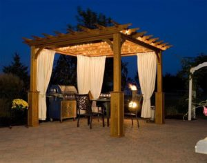 Pergola with Chiminea. Source: Pinterest