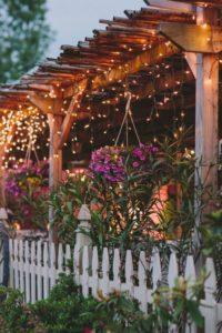 Pergola with Fairy Lights Source: Allthingsshabbyandbeautiful