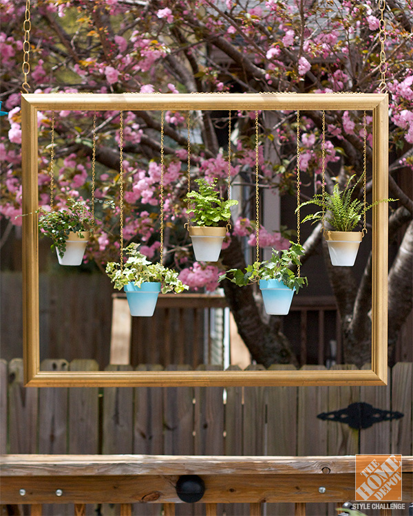 Picture Frame and Potted Plants Source: HomeDepot
