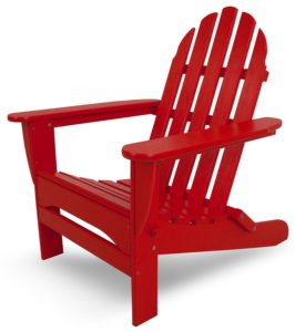 Polywood Poly Resin Adirondack Chairs in Sunset Red