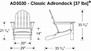 Polywood Chair Dimensions