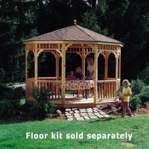Handy Home Products San Marino Tight Knot Cedar Gazebo, 10-Feet