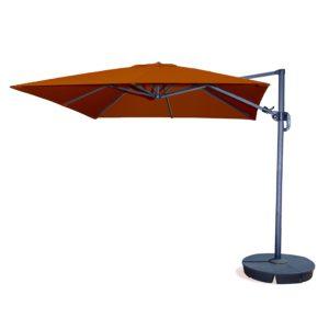 Santorini II 10 Ft Square Cantilever Umbrella In Terra Cotta Sunbrella  Acrylic