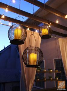 String Lights and Hanging Candles. Source: HomeDepotBlog