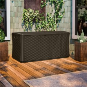 Suncast 134 Gallon Extra Large Deck Box. These are the Best Deck Boxes Around!