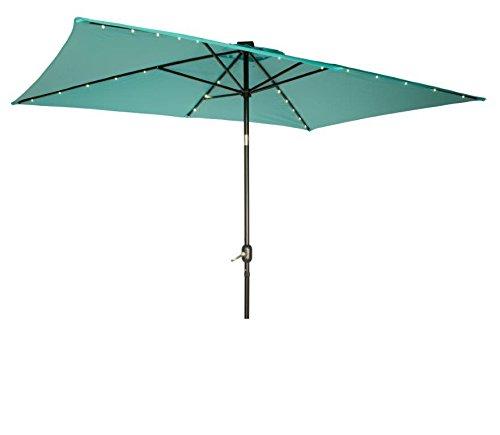 Patio Umbrella Solar Lights: Best Rectangular Patio Umbrella With Solar Lights