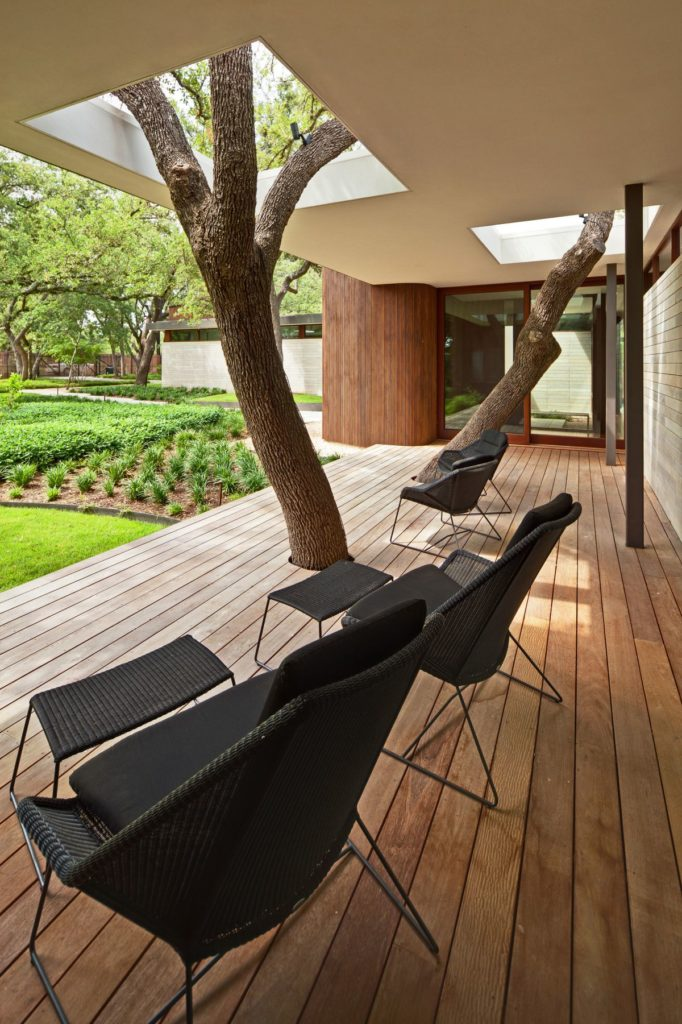 Trees Growing Through Modern Porch. Source: HomEdit