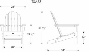 Trex Chair Dimensions