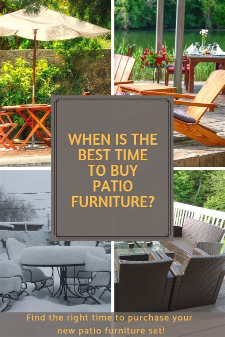When is the Best Time to Buy Patio Furniture