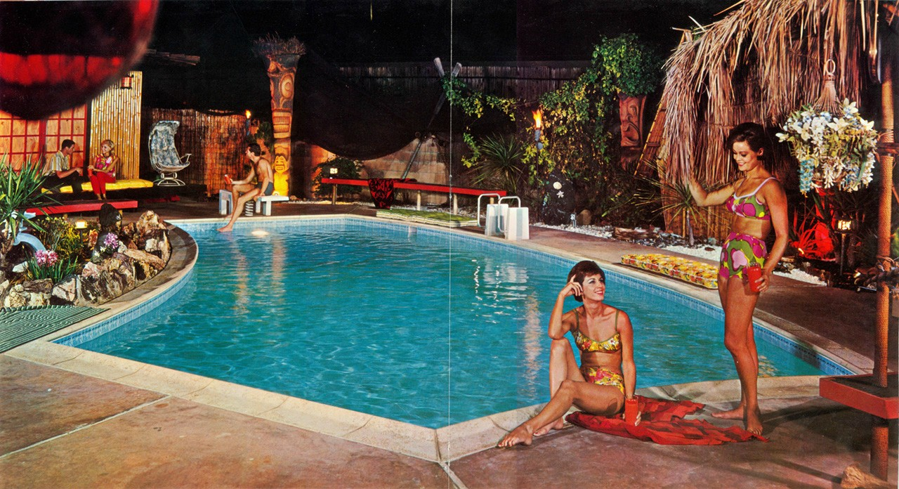 Classic Mid Century Tiki Bar Vintage Hot Tubs Pool Patio