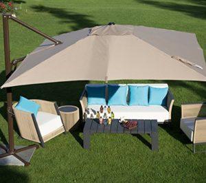Abba Patio 10-Feet Offset Cantilever Umbrella Easy Open