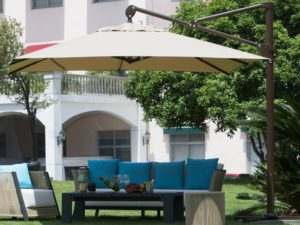 Abba Patio 10 Ft Rectangular Cantilever Umbrella