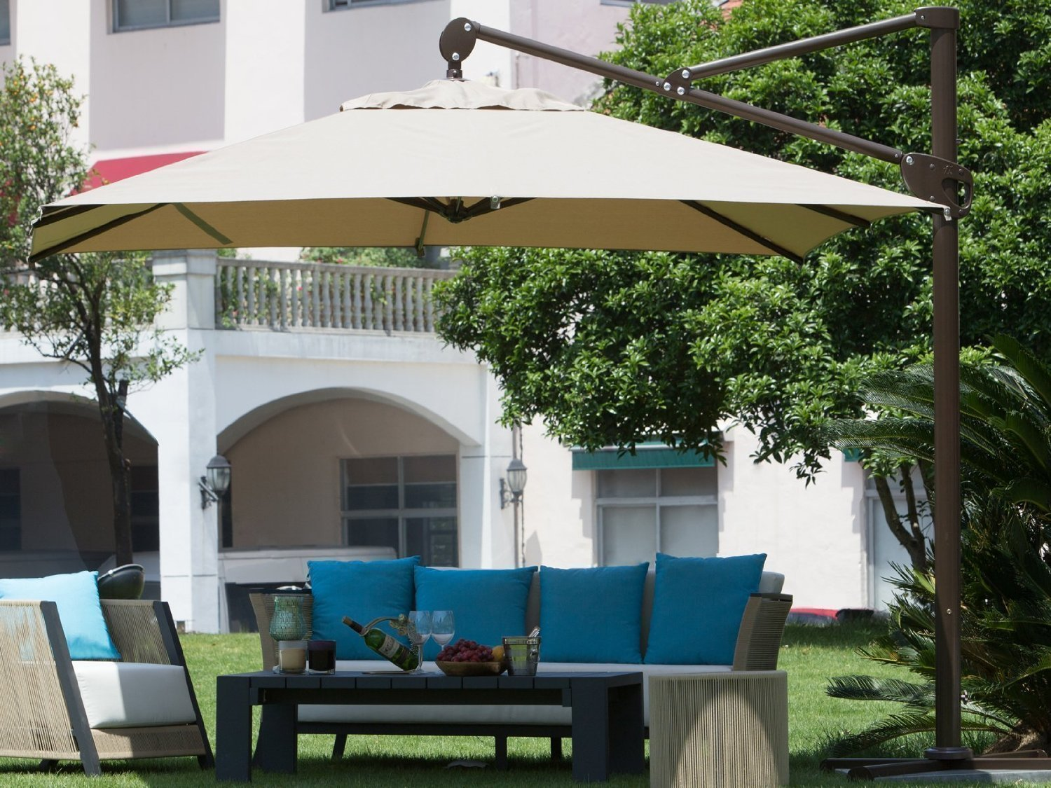 Rectangular Cantilever Umbrella Reviews Outsidemodern