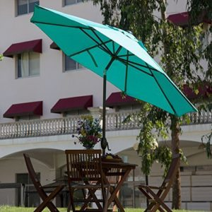 Abba Patio 9-Feet Umbrella with Push Button Tilt and Crank (Turquoise)