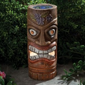 Bits And Pieces   12 Inch Solar Tiki Statues For Sale