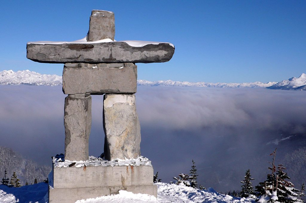 Large Scale Inukshuk Statue