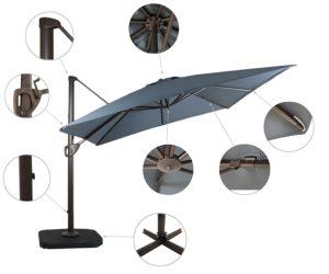 Domi Outdoor Living 10' Cantilever Umbrella Details