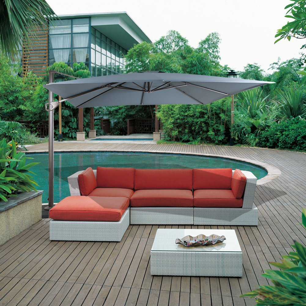 Rectangular Cantilever Umbrella Reviews Outsidemodern