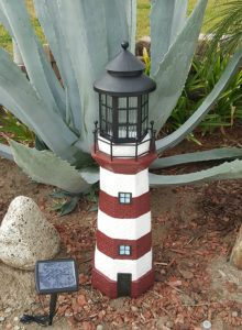 Garden Sunlight Solar Powered Lighthouse Lawn Ornaments