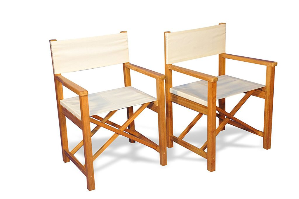 Goldenteak Teak Directors Chairs Sunbrella Fabric