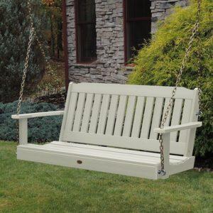 Highwood Lehigh Porch Swing 4 feet, Whitewash