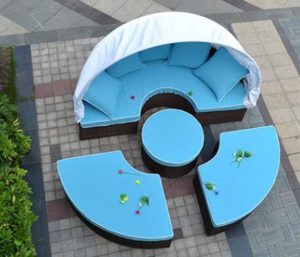 Husen Bellagio 4-piece Daybed Top View