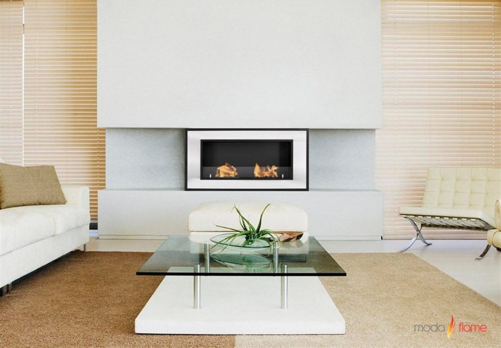 Moda Flame Lugo Ethanol Fireplace Produces 12,000 BTU