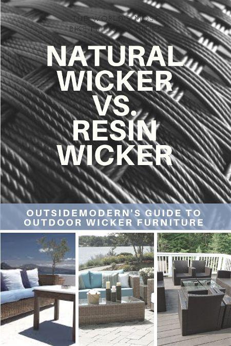 Natural Wicker vs Resin Wicker Furniture
