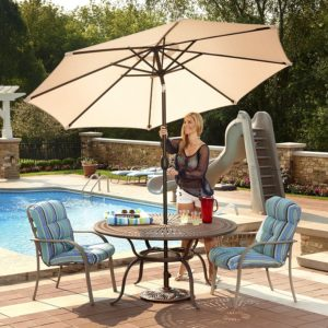 Perfect Umbrella With Olefin Fabric Canopy