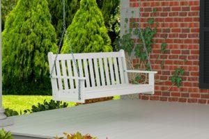 Vineyard Polywood Porch Swing 5', White