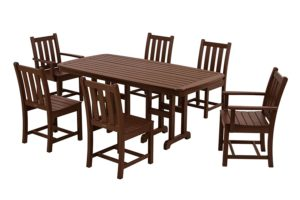 POLYWOOD PWS133-1-MA Traditional Garden 7-Piece Dining Set