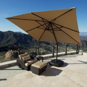 Portofino Cantilever Umbrella with Sunbrella Fabric: The Best Patio Umbrella Fabric Available