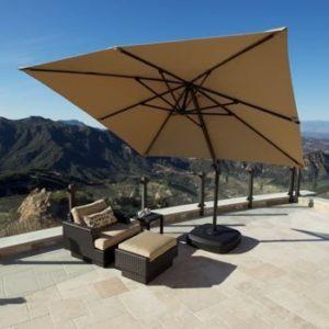 Portofino Cantilever Umbrella with Sunbrella Fabric: The Best Patio Umbrella Fabric Available