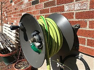 Flexzilla Hose on Wall Mount Rapid Reel