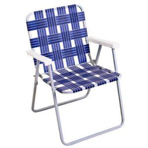 Rio Brands BY055A-0138 Aluminum Web Chair, Blue