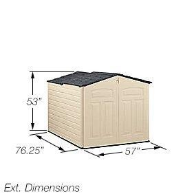 Rubbermaid Slide Lid Shed Dimensions