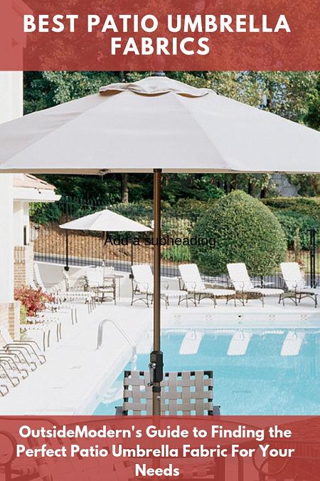 best patio umbrella fabrics