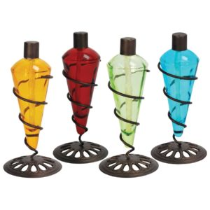 4 Pack 11 in Assorted Color Table Top Torch