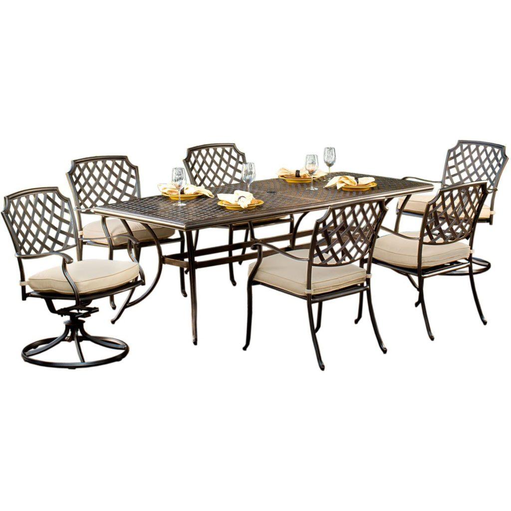 Agio 7 Piece Patio Dining Set: Heritage Collection