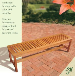 Arboria Outdoor Backless Bench