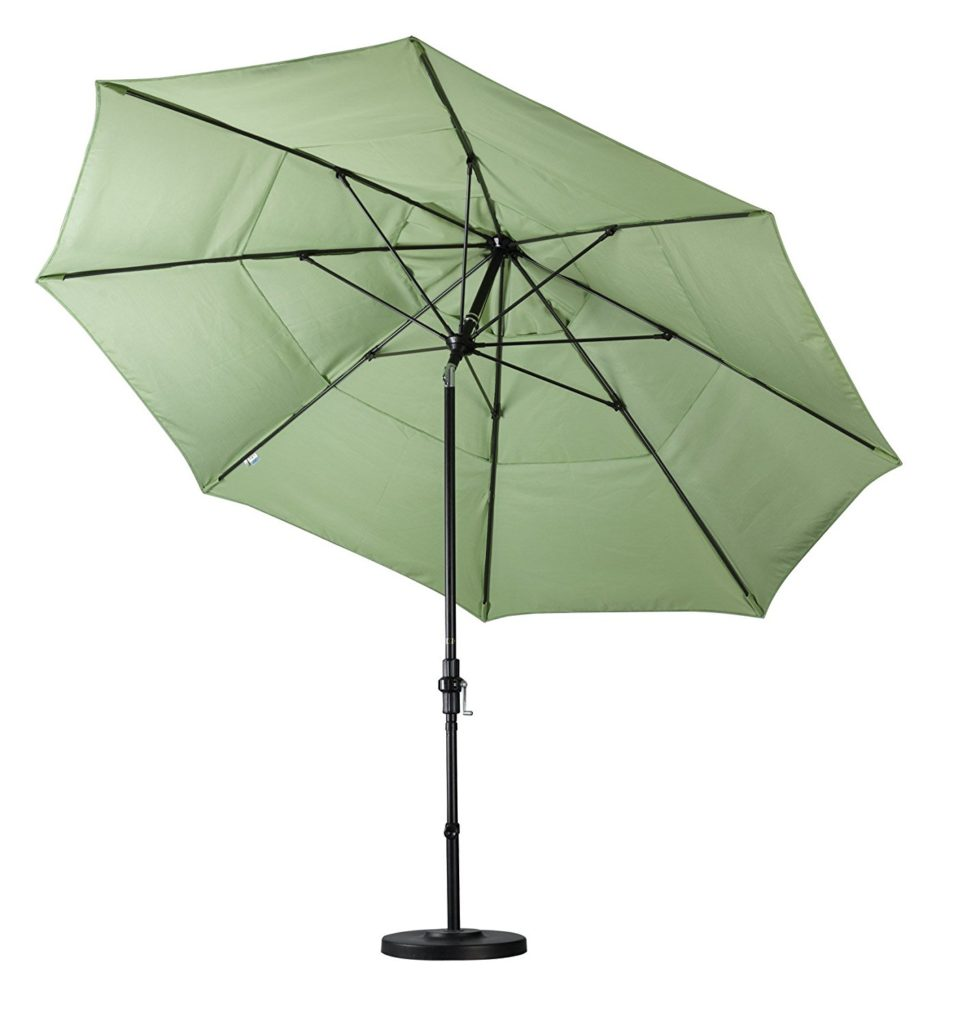 California Umbrella Double Vented Tilt Patio Umbrella