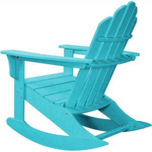 hanover outdoor furniture adirondack rocker blue