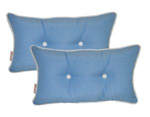 Resort Spa Home Decor Set of 2 - Indoor Outdoor Rectangle Lumbar Pillows
